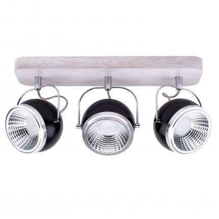 BALL WOOD LED listwa 3 x 5W GU10 LED