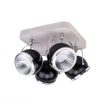 BALL WOOD LED plafon 4 x 5W GU10 LED