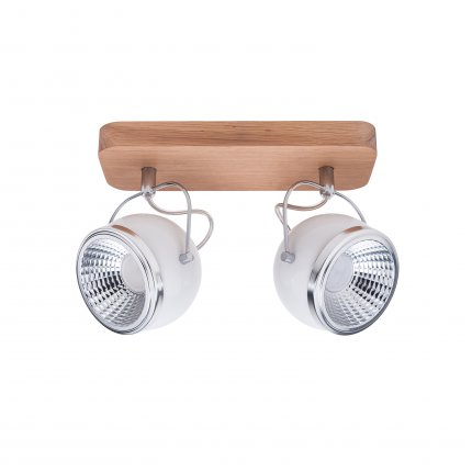 BALL WOOD LED listwa 2 x 5W GU10 LED